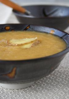 Soupe poireau gingembre