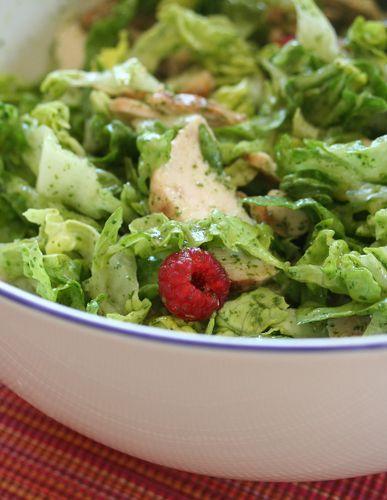 Salde verte poulet framboise
