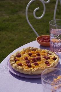 Tarte abricot/framboise