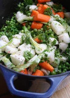 jadinière de légumes du printemps