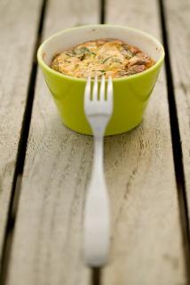 Petit flan saumon ciboulette