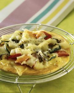 Pizzettes de légumes d'été à l'emmental