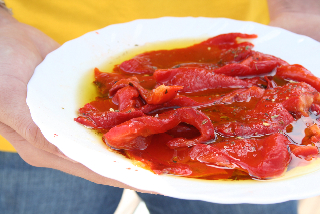 poivrons grillés marinés