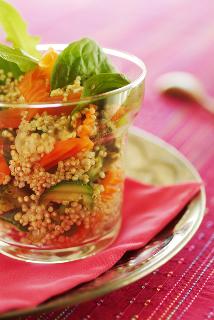 Salade de quinoa aux petits légumes (plat menu 2)
